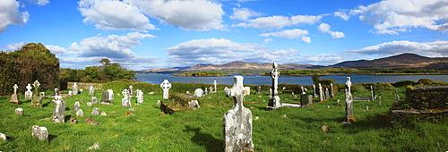 The Old Graveyard On Kenmare Bay Near Kenmare; Templenoe, County Kerry, Ireland