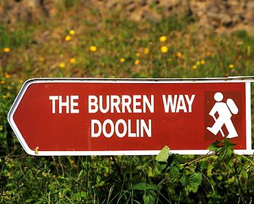 Signpost, The Burren Way, Co Clare, Ireland