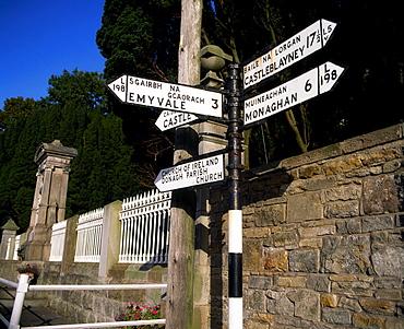 Signpost, Glashnegh, Co Monaghan, Ireland