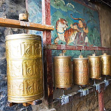 Round bronze objects at the sera monastery, Lhasa xizang china