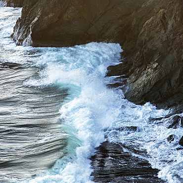Waves Crashing Against The Rugged Atlantic Coast, Port Rexton, Newfoundland And Labrador, Canada
