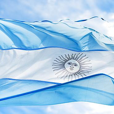 Flag Of Argentina, Los Glaciares National Park, Santa Cruz Province, Argentina