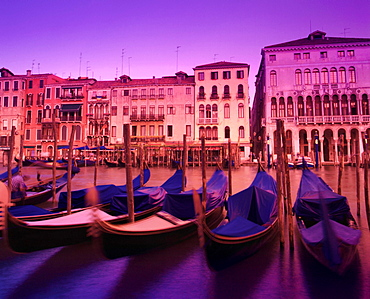 Gondolas On The Grand Canal Venice Italy