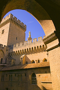 The Papal Palace In Avignon, Vaucluse, France, Europe