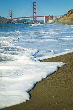 Golden Gate Bridge From Baker Beach; San Francisco, California, United States Of America