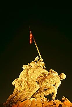 Iwa Jima Memorial Marine Corps War Memorial Arlington Cemetery In Washington, Dc, Usa