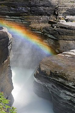 Rainbow Over Mistaya River, Mistaya Canyon, Alberta, Canada