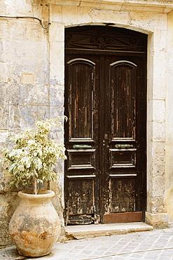 Door, Hania, Crete, Greece