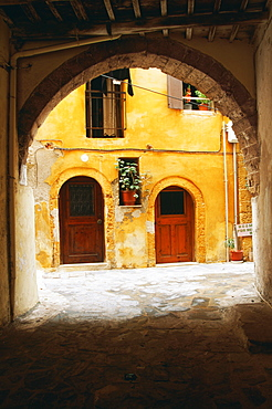 Arched Entrance To Courtyard, Hania, Crete, Greece