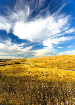 Sky Over Prairie Landscape