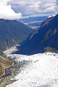 Glacier In The Mountains, New Zealand