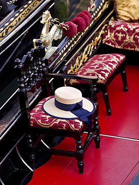 Chairs And Hat, Venice, Italy
