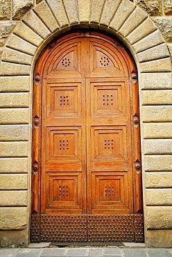 Florence, Italy, Heavy Wooden Door