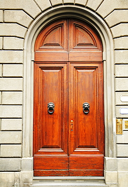 Florence, Italy, Heavy Wooden Doors