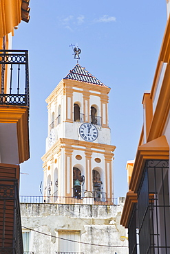 Steeple Of Nuestra Senor De La Encarnacion Church, Marbella, Malaga Province, Costa Del Sol, Spain