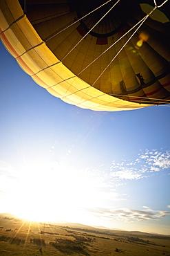 A Hot Air Balloon Lifting Into The Sky, Kenya