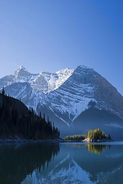 The Upper Lake At Sunrise, Kananaskis, Alberta, Canada