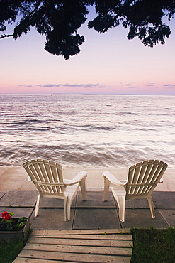 Cottage Chair At Lake Manitoba, Canada