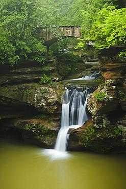 Upper falls hocking hills state park, Ohio united states of america