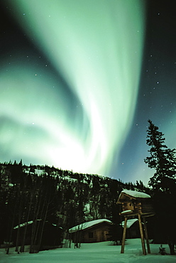 Northern Lights & Cabin Winter Alaska