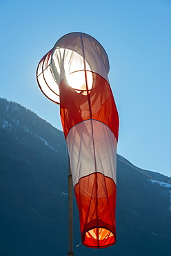 A Windsock Against A Blue Sky, Locarno, Ticino, Switzerland
