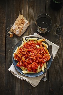 Sausage Penne Meal With Bread