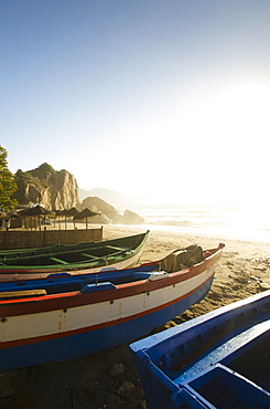 Fishing Boats On Calahonda Beach, Nerja, Andalusia, Spain