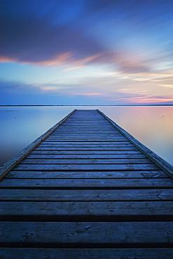 6 Minute Exposure Of An Old Dock, Queen Elizabeth Provincial Park, Alberta, Canada