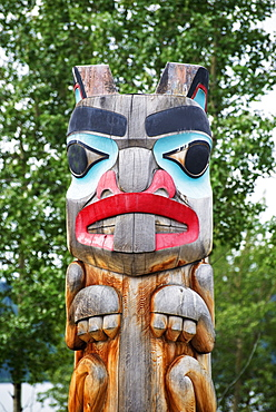 First Nations Totem, Teslin, British Columbia, Canada