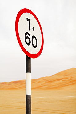 Street Sign, Liwa Oasis, Abu Dhabi, United Arab Emirates