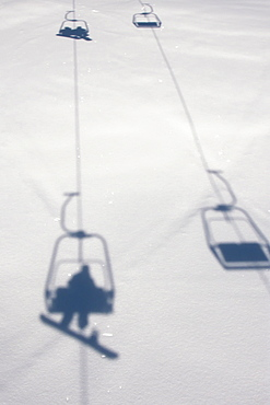 Chairlift At Lech Ski Resort, Austria