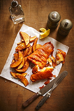 Fish And Chips On A Table