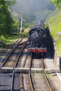 Train In Goathland, North Yorkshire, England