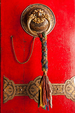 Door In A Temple Of Panchen Lamas Tashilhunpo Monastery, Tibetan Friendship Highway, Xigaze, Tibet, China