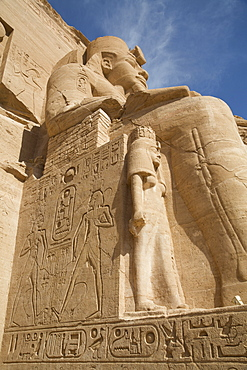 Colossus Of Ramses Ii (Top), Queen Nefertari (Bottom), Sun Temple, Abu Simbel Temples, Egypt