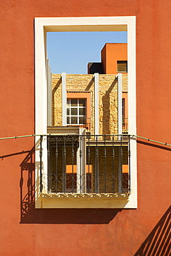 Window On An Orange Well, Cartagena, Murcia Province, Spain