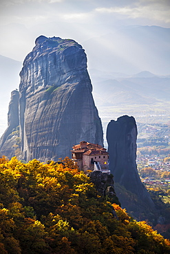 Monastery On A Cliff, Meteora, Greece