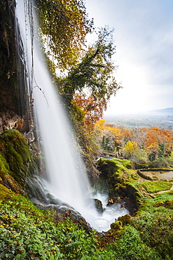 Waterfall From The Edessaios River With Autumn Coloured Foliage, Edessa, Greece