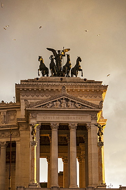 Goddess Victoria Riding On Quadriga, Rome, Italy