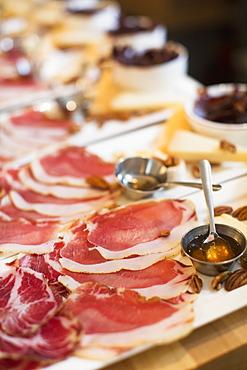 Meat, Honey, Cheese, And Pecan Trays, Toronto, Ontario, Canada