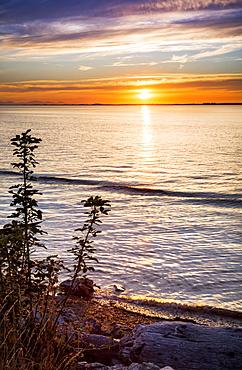 Sunset At Crescent Beach, Surrey, British Columbia, Canada