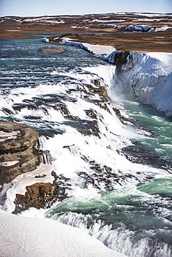 The Famous Gullfoss Waterfall, Iceland
