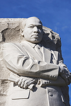 Martin Luther King Junior Memorial, Located On Four Acres Along Tidal Basin, Dedicated In 2011, 30 Foot Granite Sculpture Called Stone Of Hope By Lei Yixen, Washington, District Of Columbia, United States Of America