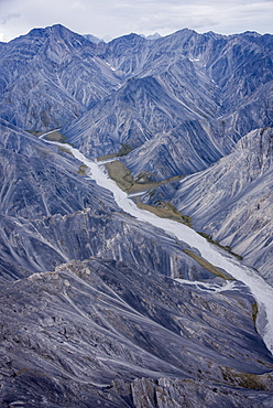 Aerial View Of The Brooks Range In Summer, Anwr, Arctic Alaska