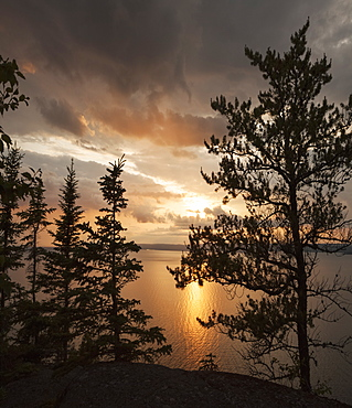 Sunset Over Lake Superior, Thunder Bay, Ontario, Canada