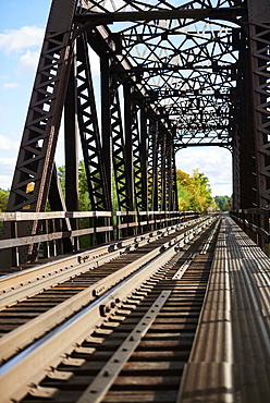 Truss Bridge Over The Severn River, Severn Falls, Ontario, Canada
