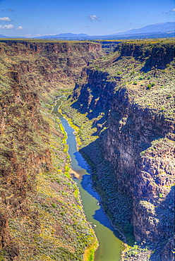 Rio Grande Gorge, Taken From Rio Grande Gorge Bridge, Near Taos, New Mexico, United States Of America