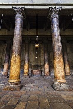 Columns In The Church Of The Nativity, Bethlehem, Israel