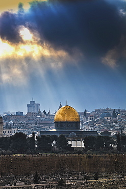 Cityscape Of The Old City Of Jerusalem, Jerusalem, Israel