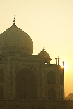Sun Rising Over Taj Mahal, Agra, Uttar Pradesh, India